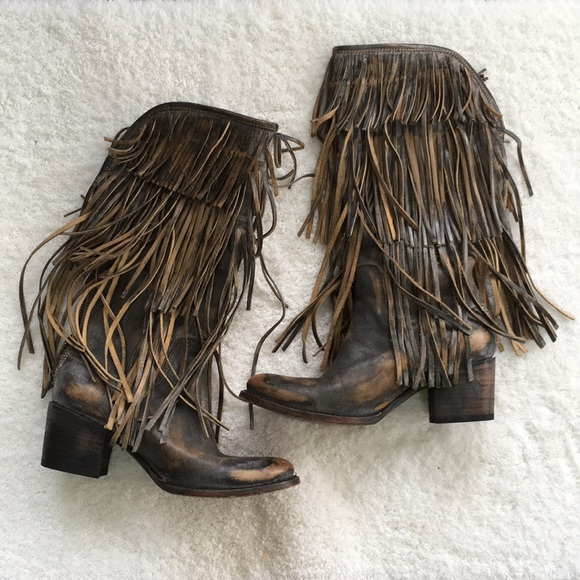 d30d6c0c18 Freebird by Steven Shoes | Freebird Ranger Tall Fringed Leather Boot ...